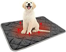 Washable Dog Mat Non-Slip Heating Mat (Gray, M)