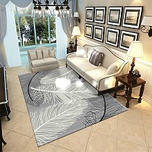 Washable Modern feather pattern runner carpet