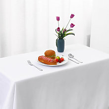 Washable Rectangle Tablecloth Dustproof Polyester