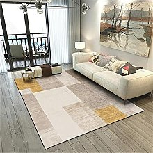 washable rug Living room carpet rice color yellow