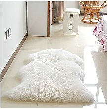 Washable Soft Fluffy Wool Rug Seat Cover Two in