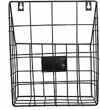 WASHED Modern Wire Magazine Newspaper Basket Mail