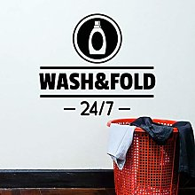 Washing Folding Word Wall Decals Detergent Laundry