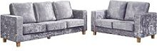 Wasp Crushed Velvet 2 Seater And 3 Seater Sofa