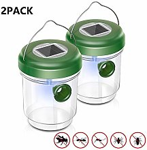 Wasp Trap 2 Pack Solar Outdoor Wasp Trap Killer