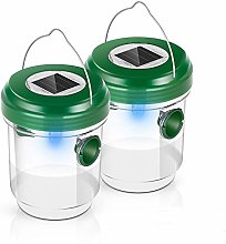 Wasp Trap Catcher,Pack of 2 Gnat Trap Solar