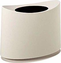 Waste Paper Basket Oval Split Trash Can,Double-