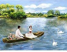 Watch Couple Boat Landscape Painting Digital