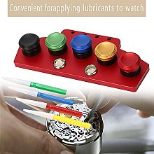 Watch Oil Dip Tool, 5pcs with Lid Watch Oiler Dish