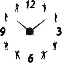watches 3d real big wall clock acrylic mirror