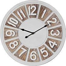Watching Clocks HOMETIME LARGE ROUND 2 TONE MDF