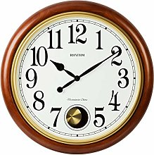 Watching Clocks RHYTHM DELUXE ROUND WOODEN CHIMING