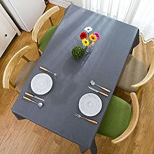 Water and Oil Resistant Tablecloth Plain Wipeable