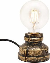 Water Pipe Table Lamp - Motent Industrial Rust