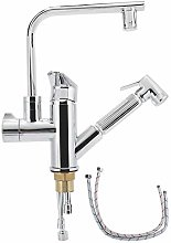Water Tap, G1/2 Thread Copper LED Light Faucet,