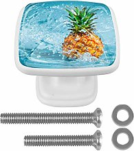 Water with Pineapple Drawer Knob for Home Cabinet