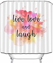 Watercolor Backgroud Shower Curtain for Bathroom