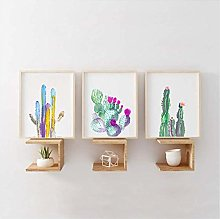 Watercolor Cactus Print Succulent Plants Posters