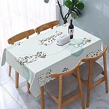 Watercolor Dalmatians Mint Tablecloth,Rectangular
