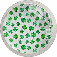 Watercolor for St. Patrick Day 4 Pack Round Glass