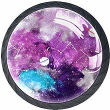 Watercolor Galaxy Constellation Cabinet Door Knobs