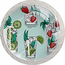 Watercolor Green Summer Cocktail Drinks Knobs for