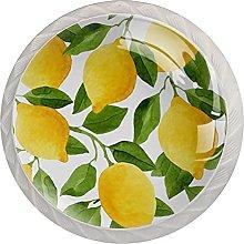 Watercolor Lemon Fruit, 4Pack ABS Dresser Knobs