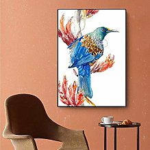 Watercolor Painting Animal Painting Bird Flower