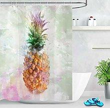 Watercolor Pineapple Polyester Waterproof Fabric