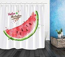 Watercolor watermelon Waterproof Polyester Fabric