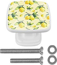 Watercolor Yellow Lemon Fruit Drawer knobs 30MM