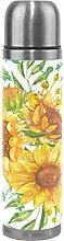 Watercolor Yellow Sunflowers Water Bottle