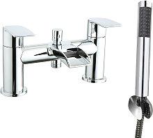Waterfall Bath Shower Mixer Tap Chrome Hand Held