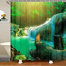 Waterfall Shower Curtain for Tree Bathroom Fabric