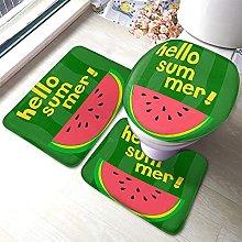 Watermelon Bathmat,Hello Summer With Cartoon