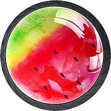 Watermelon Black Knobs for Dresser Drawers Round