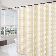 Waterproof and Mildew Proof Fabric Shower Curtain,