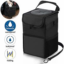 Waterproof car Trash can, Garbage Bag with lid and