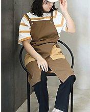 Waterproof Cotton Linen Apron for Women Nursery