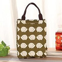 Waterproof Cotton Linen Lunch Bag Cute Insulated