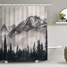 不适用 Waterproof fabric shower curtain for