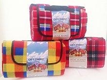Waterproof Fleece Tartan Picnic Blanket - Out There