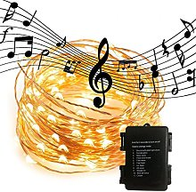 Waterproof LED String Lights,Sound Activated Music