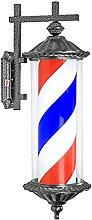 Waterproof Outdoor Barber Shop Pole Rotating and