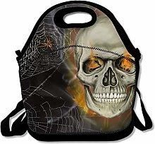 Waterproof Picnic Tote Dark Skull Lunch Bag