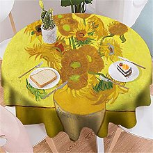 Waterproof Round Tablecloth For Home, Hotel And