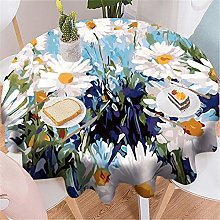 Waterproof Round Tablecloth For Home, Hotel,