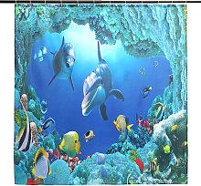 Waterproof Shower Curtain 180x180cm + 12 Mohoo