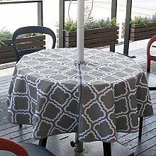 Waterproof Tablecloth 60Inch With Zipper Umbrella