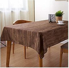 Waterproof Tablecloth Classic with Wood Grain